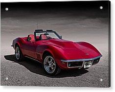 69 Red Stingray Acrylic Print by Douglas Pittman