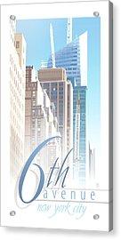 6th Avenue Acrylic Print
