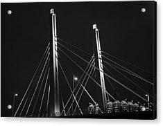 6th Street Bridge Black And White Acrylic Print