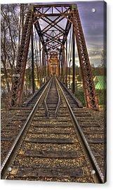 6th Street Rail Road Bridge Acrylic Print by Reid Callaway
