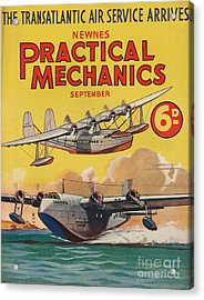 1930s Uk Practical Mechanics Magazine Acrylic Print by The Advertising Archives