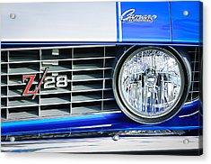 1969 Chevrolet Camaro Z-28 Grille Emblem Acrylic Print