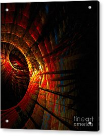 A Digital Painting Of Abstract Colouful Shapes Acrylic Print