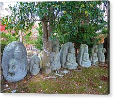 Acrylic Print featuring the photograph 7 Ancient Buddhas by Julia Ivanovna Willhite