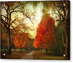 Acrylic Print featuring the photograph Autumn Promenade by Jessica Jenney