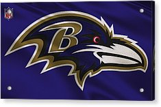 Baltimore Ravens Uniform Acrylic Print by Joe Hamilton