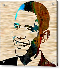 Barack Obama Acrylic Print by Marvin Blaine