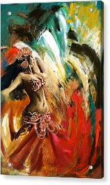 Abstract Belly Dancer 19 Acrylic Print by Corporate Art Task Force