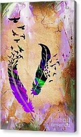 Birds Of A Feather Acrylic Print by Marvin Blaine