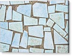 Blue Tiles Acrylic Print by Tom Gowanlock