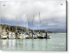 7 Boats In A Row Acrylic Print