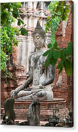 Acrylic Print featuring the photograph Buddha Statue by Yew Kwang