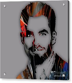 Chris Pine Collection Acrylic Print by Marvin Blaine