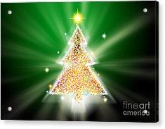 Christmas Tree Acrylic Print by Atiketta Sangasaeng