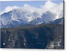 Cloudy Peak Acrylic Print