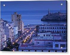 Cuba, Havana, Elevated City View Acrylic Print