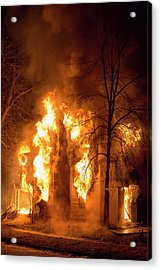 Domestic Fire Acrylic Print by Jim West