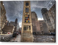 Downtown Synagogue In Detroit Acrylic Print by Twenty Two North Photography