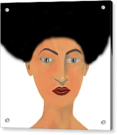 Face Acrylic Print by Moshfegh Rakhsha