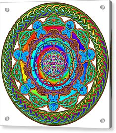 7 Fish Rainbow Yahushuah Messiah Acrylic Print