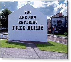 Free Derry Corner 4 Acrylic Print