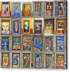Funchal Door Art Acrylic Print