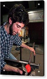 Glass Blowing Acrylic Print