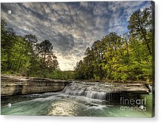 Haw Creek Falls Acrylic Print by Twenty Two North Photography