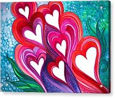 7 Hearts Acrylic Print
