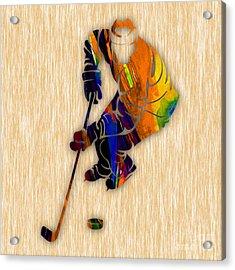 Hockey Acrylic Print by Marvin Blaine