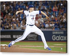 Houston Astros V Toronto Blue Jays Acrylic Print by Tom Szczerbowski