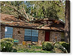 Hurricane Irma Residential Storm Damage Acrylic Print by Millard H. Sharp