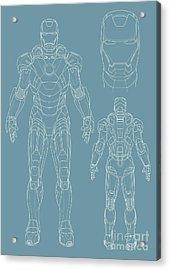 Iron Man Acrylic Print by Caio Caldas