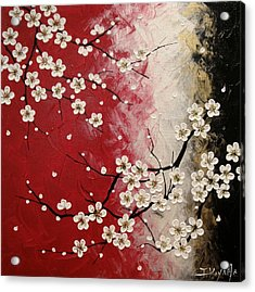 Japanese Plum Blossoms Acrylic Print by Tomoko Koyama