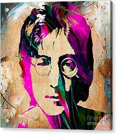 John Lennon Painting Acrylic Print by Marvin Blaine
