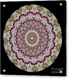 Kaleidoscope Colorful Jeweled Rhinestones Acrylic Print by Amy Cicconi