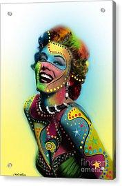 Marilyn Monroe Acrylic Print by Mark Ashkenazi
