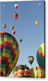 Mass Ascension At  The Albuquerque Hot Acrylic Print by William Sutton