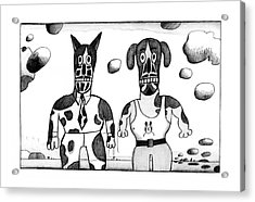 New Yorker February 23rd, 1976 Acrylic Print by Saul Steinberg
