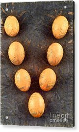 Organic Eggs Acrylic Print by George Atsametakis