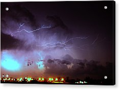 Our 1st Severe Thunderstorms In South Central Nebraska Acrylic Print