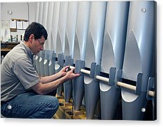 Pipe Organ Factory Acrylic Print