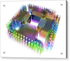 Quantum Computer Acrylic Print by Alfred Pasieka