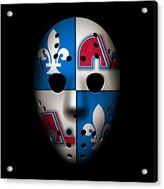 Quebec Nordiques Acrylic Print by Joe Hamilton