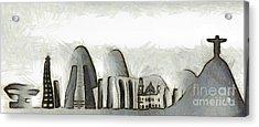 Rio De Janeiro Skyline Acrylic Print