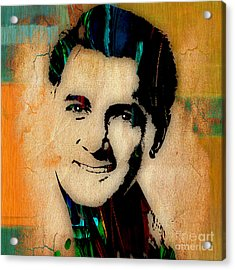 Rock Hudson Collection Acrylic Print by Marvin Blaine