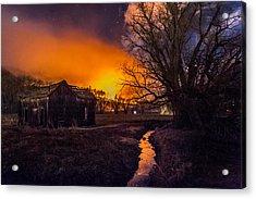 Round Fire Acrylic Print
