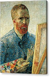 Self Portrait Acrylic Print by Vincent van Gogh