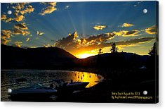 Acrylic Print featuring the photograph Skaha Lake Sunset by Guy Hoffman