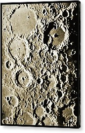 Surface Of The Moon Acrylic Print by Detlev Van Ravenswaay
